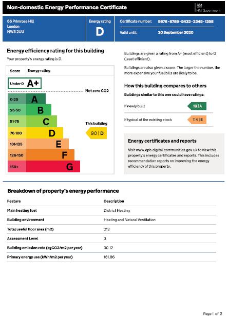 New Non-Domestic EPC Sept 2020 page 1